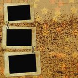 Vintage Background With Frames Royalty Free Stock Image