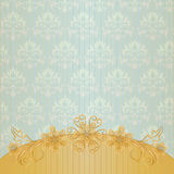 Vintage Background With Gold Flower Royalty Free Stock Image