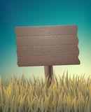 Vintage background with a wooden sign. Stock Photography