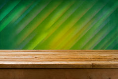 Vintage background with wooden table Royalty Free Stock Photography