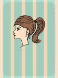 Vintage background with young girl Royalty Free Stock Image