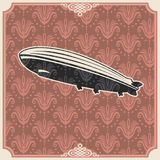 Vintage background with zeppelin. Stock Photography