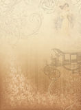 Vintage background2. Vintage background, old car, family and patterns vector illustration