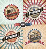 Vintage backgrounds and labels set Royalty Free Stock Image