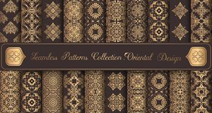 Vintage Backgrounds Luxury Seamless Patterns Golden Design Elements Royalty Free Stock Photo