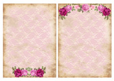 Vintage backgrounds with roses Stock Images
