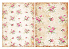 Vintage backgrounds with roses stock photo