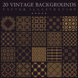 Vintage backgrounds. Seamless pattern ornament Royalty Free Stock Photography