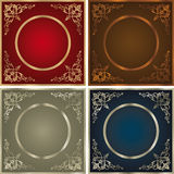 Vintage backgrounds set Royalty Free Stock Photo