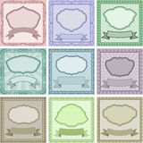 Vintage backgrounds. Set of vintage backgrounds with frames and borders Royalty Free Stock Photography