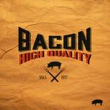 Vintage bacon label Royalty Free Stock Photos