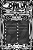 Vintage Bacon Menu on Blackboard for Restaurant Royalty Free Stock Photography