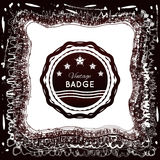 Vintage badge on an abstract background Royalty Free Stock Photos
