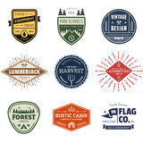 Vintage badge graphics. Set of retro vintage badges and label graphics Royalty Free Stock Image