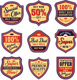 Vintage badge and label set Stock Photography