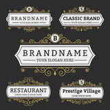 Vintage Badge and Labels Brand name Collection royalty free illustration