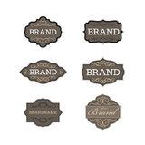 Vintage badge logo design template set Stock Images