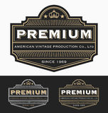 Vintage Badge logo label design  for Premium Product Stock Photo