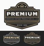 Vintage Badge logo label design for Premium Product royalty free illustration