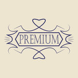 Vintage badge. Logo template. Design elements Vector illustration Royalty Free Stock Photography