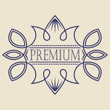 Vintage badge. Logo template. Design elements Vector illustration Royalty Free Stock Photos