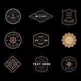 Vintage Badge Logos. Set of vintage minimal badge logo designs stock illustration