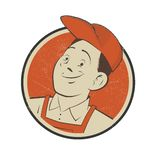 Vintage badge of a mechanic Royalty Free Stock Photo