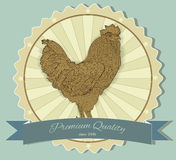 Vintage badge with Rooster. Vector illustration. Vintage badge with Rooster. Vector Stock Photography