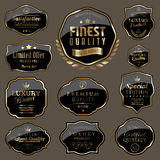 Vintage badge set. Set of vintage black badges Royalty Free Stock Photos