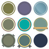 Vintage Badge Set Icons Stock Photography