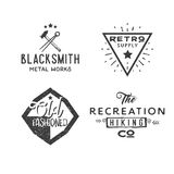 Vintage badge templates. Vector illustration in retro style Royalty Free Stock Photography