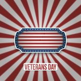 Vintage Badge with Veterans Day Text. Vector Illustration Stock Image