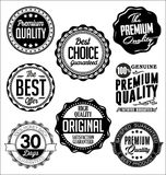 Vintage Badges. Black and White. Premium Quality. Set of Vintage Badges. Black and White Premium Quality Royalty Free Stock Image