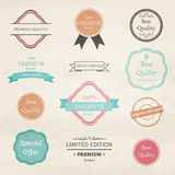 Vintage Badges and Labels Royalty Free Stock Photo