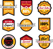 Vintage badges and labels Royalty Free Stock Image