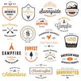 Vintage badges & labels. Set of retro vintage badges and label graphics Royalty Free Stock Image