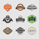 Vintage Badges Logo. Vintage Style Badges Logo for different businesses Stock Images