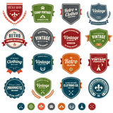 Vintage badges. Set of retro vintage badges and labels with texture Royalty Free Stock Photo