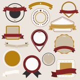 Vintage badges Royalty Free Stock Photos