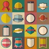 Vintage badges set. Vintage retro badges set for web and mobile devices stock illustration