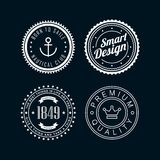 Vintage badges white 3 Stock Photos