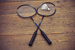 Vintage badminton racquet Royalty Free Stock Photography