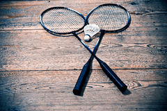 Vintage badminton racquet Royalty Free Stock Photos