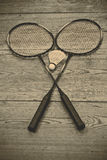 Vintage badminton racquet Stock Photos