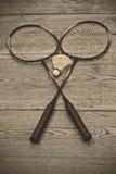 Vintage badminton racquet Stock Photos