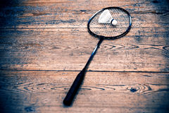 Vintage badminton racquet Royalty Free Stock Images