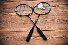 Vintage badminton racquet Stock Image
