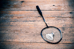 Vintage badminton racquet Royalty Free Stock Image