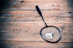 Vintage badminton racquet Royalty Free Stock Image