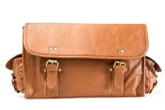 Vintage bag. Front view. Stock Photo